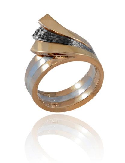 rhodinerad, silverring. silverknappen, hvorslevjewelry